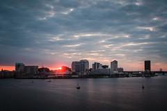 Sunrise viewed from Portsmouth VA