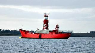 Spare light vessel off Felixstowe, 20th March 2018. Photo by Bill Douglas