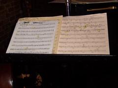 Crazy jazz sheet music, Montreal Bistro, Toronto
