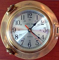 Squared Porthole Clock