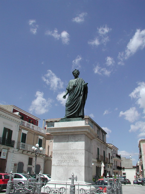 Statue of Horace in Venosa, Italy