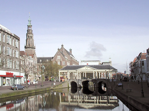 Corn market bridge in Leiden
