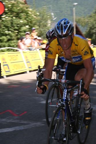 Lance Armstrong.  7th Tour win.  Aix-en-trois domaines.  2005