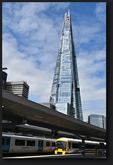 The Shard from London Bridge Station: London