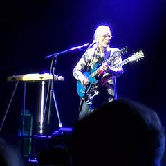 Steve Howe with altogether too many guitars