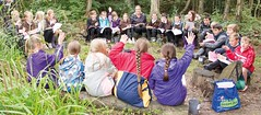 Churchill Class enjoying Forest School in 2016