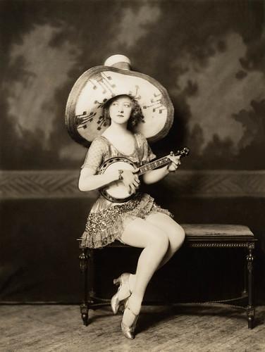 Ada May, with banjo.