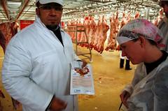 The meat pavilion at Rungis Market, Paris