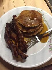 #glutenfree pancakes with bacon #breakfastfordinner
