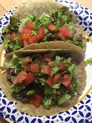 Beef taco on #glutenfree tortilla #homemade