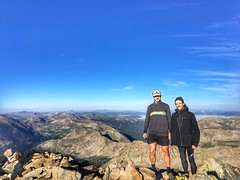 Matt and I with a summit view towards the west