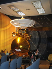 Scale model of Cassini-Huygens spacecraft