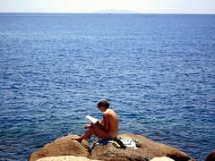 the end of the trail (isl_gr (away on an odyssey)) Tags: blue comfortable ikaria aegean greece blogged hiker amorgos gemtlich karkinagri   mavri chercherlafemme