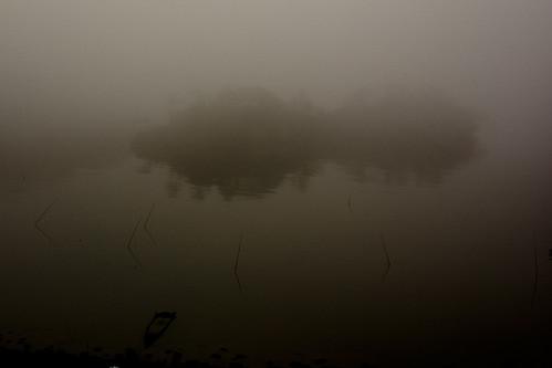 島、霧、朝 (松島)