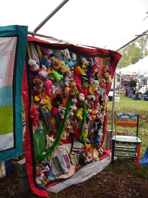 Chris Clark's Stuffed Animal Quilt at Kentuck 2006