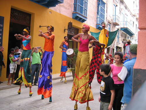 Street performers in Cuba give a taste of the exciting culture that may become a legal part of American travelers itineraries
