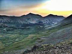 Dawn at the summit ridge