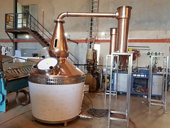 Winding Road Distilling Co. 1250 litre Copper Still, with stainless steel insulated barrel, 6 x electric elements with the provision of 9 for the future