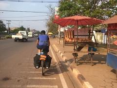 Baguette am Strassenrand in Vientiane