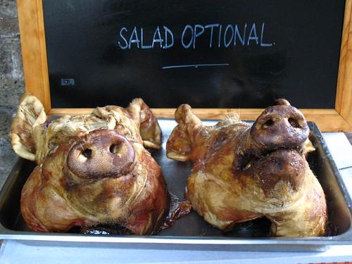 A salada é opcional, foto da usuária do flickr estherase