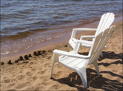 Beach Chairs and Sand Castles, Golden Lake