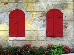 Two Red Windows, Samac, Bosnia