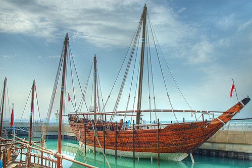 Dhow Kuwaiti en el Kuwaiti Scientific Center