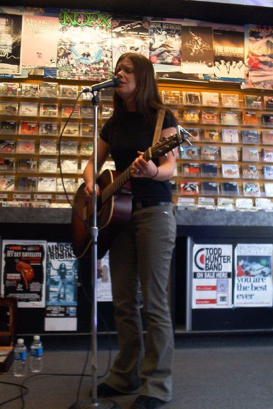 Jen Lane live! in-store performance at Music Trader on October 21 2006