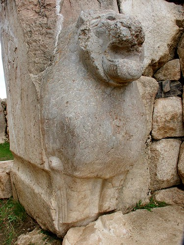 Hattusas' Lion - note the weathered mane