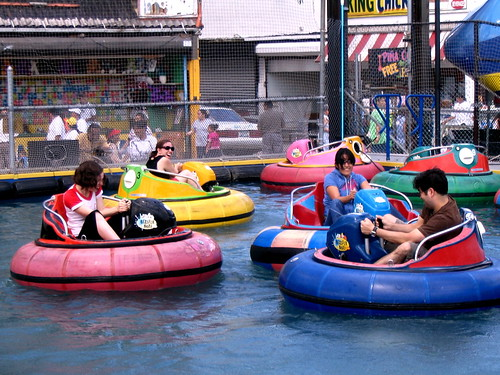 The Bumper Boats and other amusements thrived on this very location until Joe Sitt evicted them in 2007 to create his empty lots. Hooray for redevelopment!  Photo by the hanner via flickr