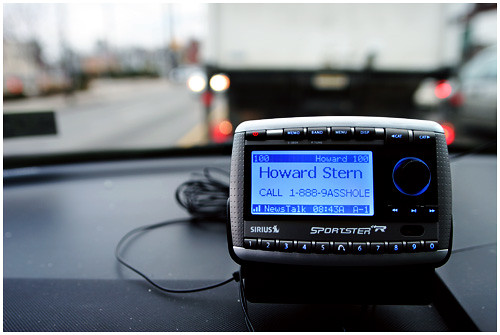 Howard Stern Displayed on a Sirius XM Radio