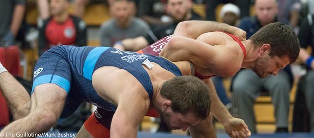 65KG  Jayson Ness (Minnesota Storm) VPO1 Nick Dardanes (Titan Mercury Wrestling Club), 6-3.  - 180519amk0025