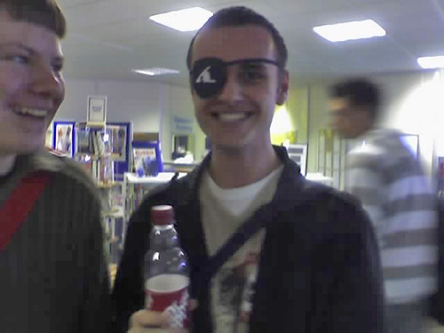 Cosnett proudly wearing his eye patch