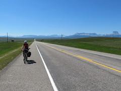 Blick zurück in die Berge kurz vor der Grenze