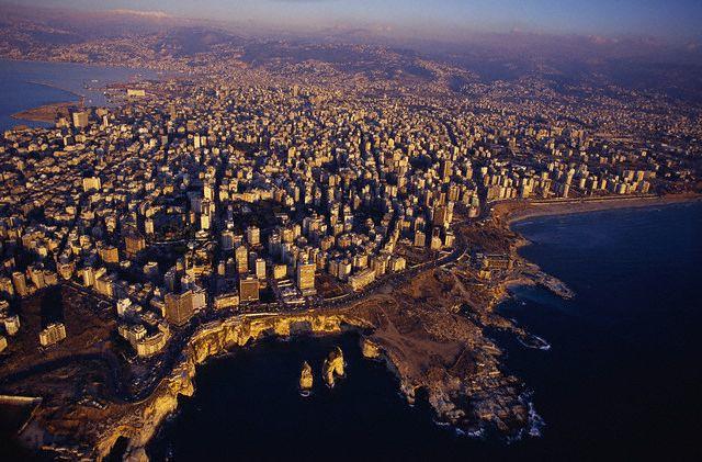 November 1996, Beirut, Lebanon - Aerial of Beirut