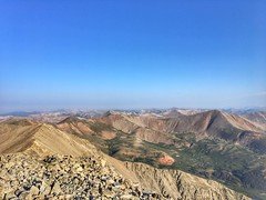 On the summit of Tabeguache Peak looking west