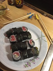 #homemade tuna sushi #naturallyglutenfree #glutenfree #happyfood