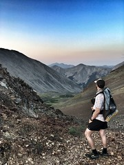 Matt looking back towards camp