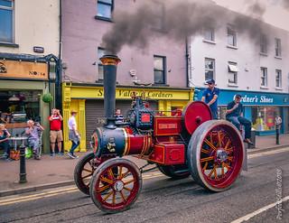 Steaming through the centre of Navan Town