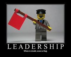 Leadership: when in doubt, wave a flag