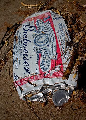 Crushed Budweiser Can
