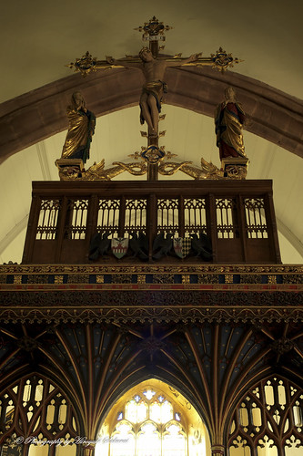 Rood and Rood Screen; St. Mary's Church, Bishops Lydeard, Somerset