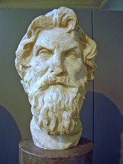 This dude is not Zenodotus at all; he's Antisthenes the Cynic