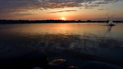 splash of kilve sunset