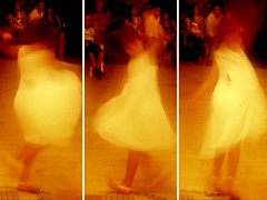 She dances alone...