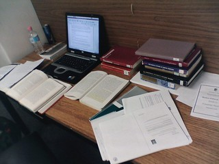 Essay Time (Rousseau and Women): My desk at th...