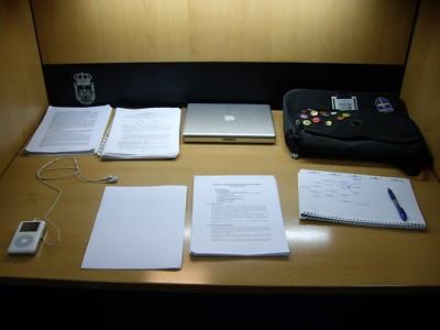 Mi puesto de estudio en Vetusta
