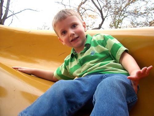 Brian on a slide