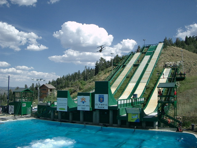 Summer Ski Jumping I Think The Bubbles Help Soften The
