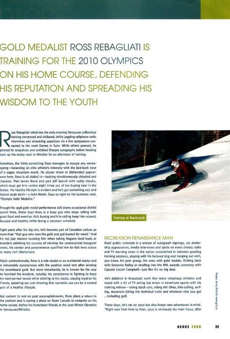 Ross article, Heads magazine, pg. 2
